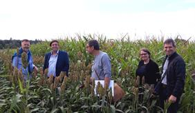 The environmental auditor also visited the ZALF experimental plots as part of the monitoring audit.