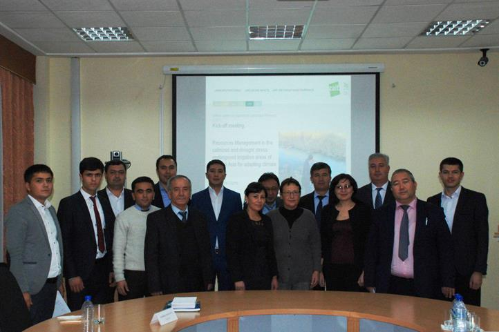Participants of the kick-off meeting in Tashkent (Uzbekistan) on the project BioWat | Quelle: © Ilhom Abdurahmanov.
