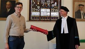 Marijn van der Meij graduated with distinction