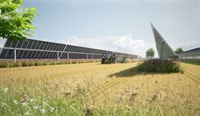 Solaranlage auf einem Feld