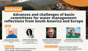 """Invitation to webinar on """"Advances and challenges of basin committees for water management: reflections from South America and Europe"""""""