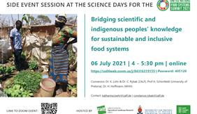Workshop flyer on indigenous food systems