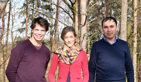 Dr. Moritz Reckling, Dr. Maria Kernecker, Dr. Ahmad Hamidov (from left to right)