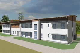 3D-Animation des neuen Forschungskomplexes Haus der Kulturbiomforschung.