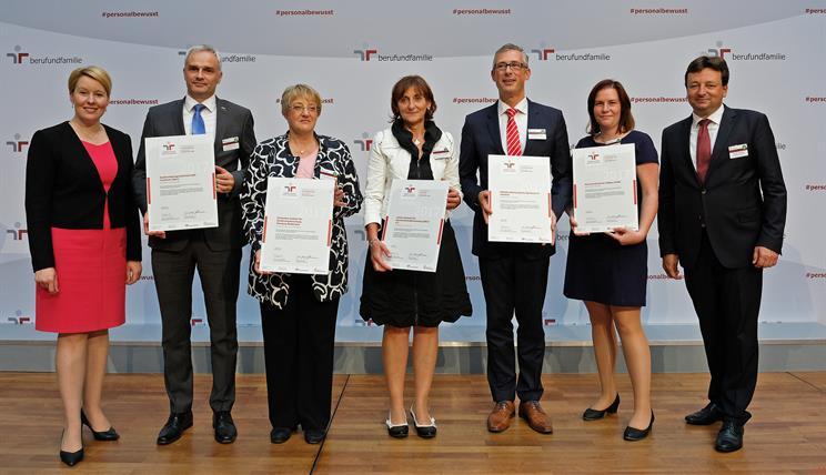 Zertifikatsverleihung Audit BerufundFamilie 2018