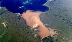 Satellitenbild von Buenos Aires